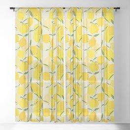 Fresh Citrus  Sheer Curtain