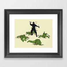 The Real Ninja Part 1 Framed Art Print