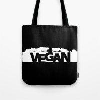 vegan Tote Bags featuring VEGAN Herbivores by Rholala