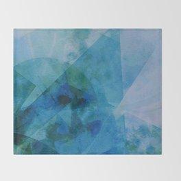 Precipice in Blue IX Throw Blanket