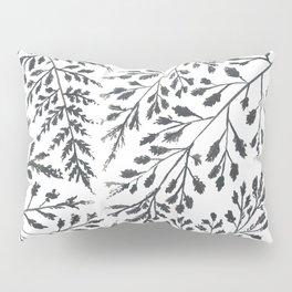 Black Leaves Pillow Sham