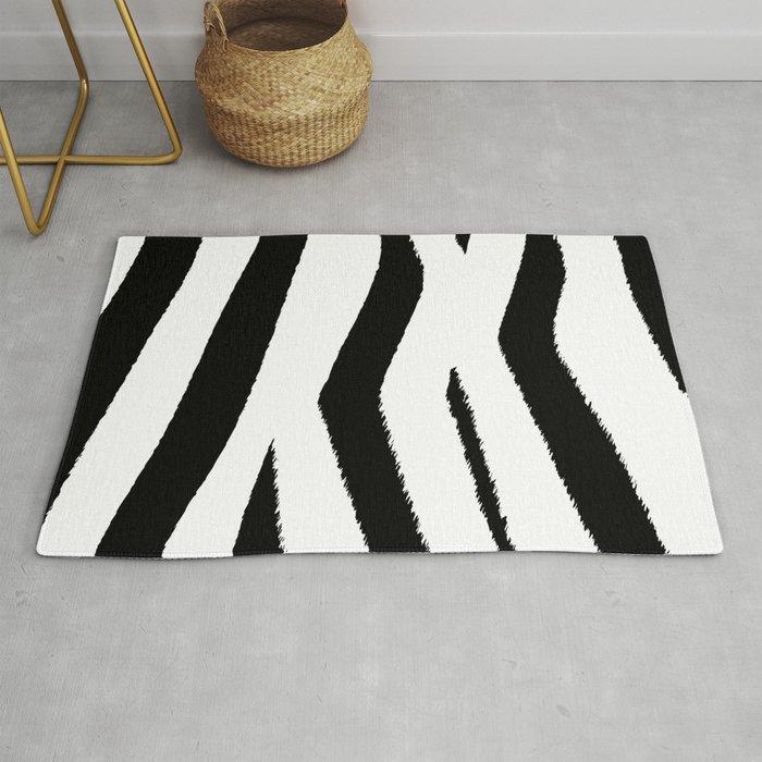 Black And White Zebra Rug By Bndesigns