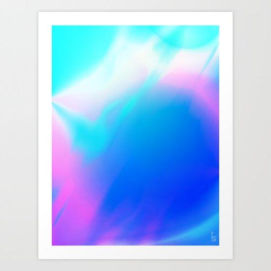 Pastel Vortex Art Print
