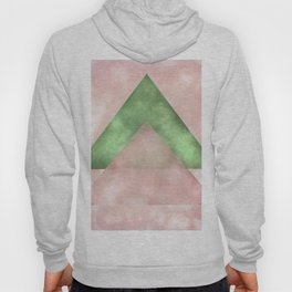 Pink and Green Triangles Geometric Abstract Hoody