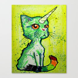 Unicorn Cat Canvas Print