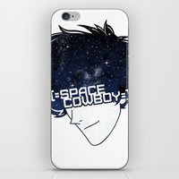 cowboy bebop iPhone & iPod Skins featuring Space Cowboy by Pyier