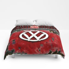 VW Retro Red Comforters