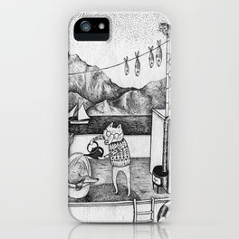 Fox on Fishing-boat iPhone Case