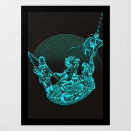 La meduse Art Print