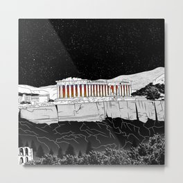 Parthenon black and white Metal Print
