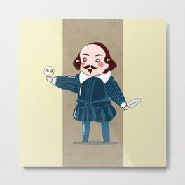 Cute History - Shakespeare Illustration Metal Print