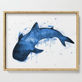 Whale Shark, blue Serving Tray