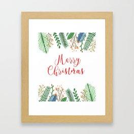 Merry Chritmas #society6 Framed Art Print