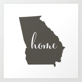 Georgia is Home Art Print
