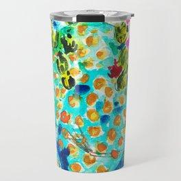 Blue Cactis Travel Mug