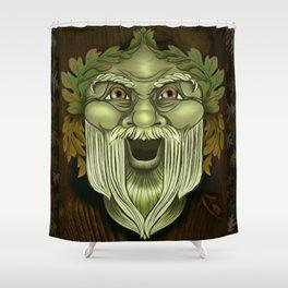 Oak King Green Man Shower Curtain