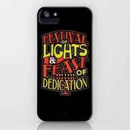 Hanukkah Festival of Lights Feast of Dedication iPhone Case