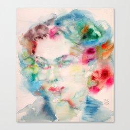 VIVIEN LEIGH - watercolor portrait Canvas Print