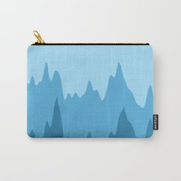 Blue Multi-Blue Wave Abstract Modern Design Carry-All Pouch