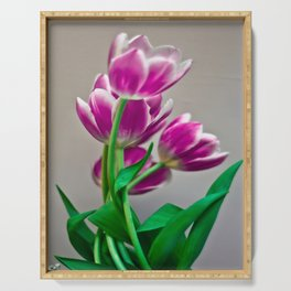 Pink Tulips Serving Tray