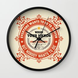 Wash your Hands - Logo Wall Clock
