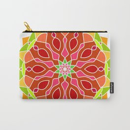 Vintage Mandala Flower Carry-All Pouch