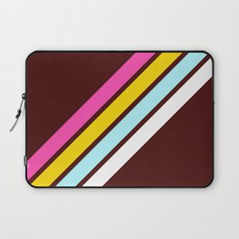 80's Style Retro Stripes Laptop Sleeve