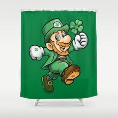 Lucky Mario Leprechaun Shower Curtain