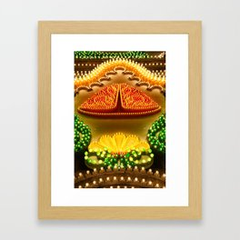 Colorful decorations Framed Art Print