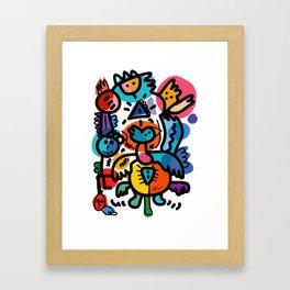 Doodle Graffiti Art Cool and Joyful Creatures by Emmanuel Signorino Framed Art Print