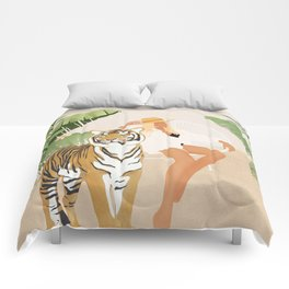 The Lady and the Tiger Comforters