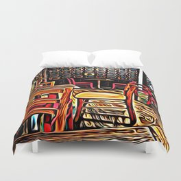 Creativity Cafe Duvet Cover