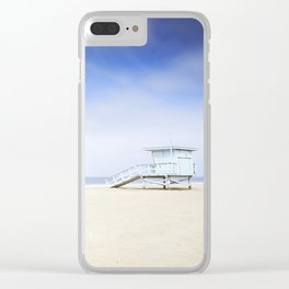 Zuma Beach Lifeguard Hut - Long Exposure Clear iPhone Case
