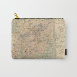 Vintage Map of The White Mountains (1881) Carry-All Pouch