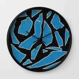 Blue black Wall Clock