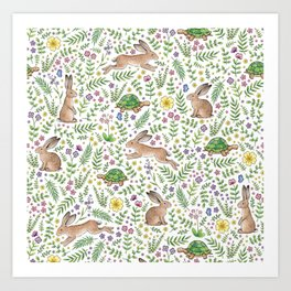 Spring Time Tortoises and Hares Art Print