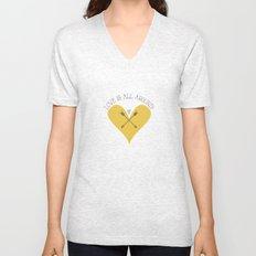 Love is all around Unisex V-Neck