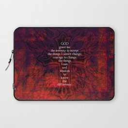 Serenity Prayer Inspirational Quote With Beautiful Christian Art Laptop Sleeve