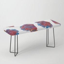 Ocean Theme- Red Blue Betta Fish Bench