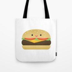 Happy Cheeseburger Tote Bag