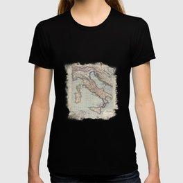 Bella Italia Vintage Map Of Italy T-shirt