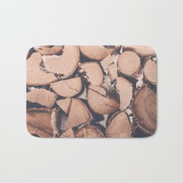 Wood Pile Bath Mat