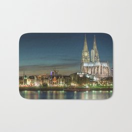 Cologne Cathedral and Cologne, Germany Skyline at Twilight Bath Mat