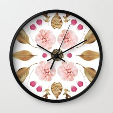 BOTANICAL COLLAGE N2 Wall Clock