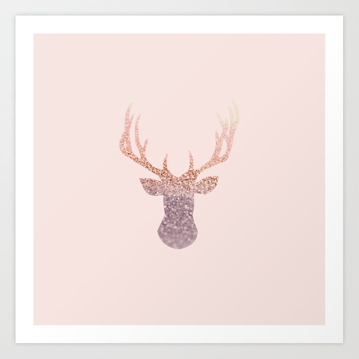 ROSEGOLD DEER BLUSH Art Print