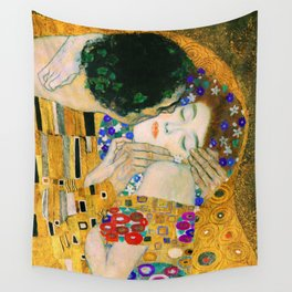 The Kiss by Gustav Klimt Wall Tapestry