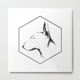Canine Republic : Bull Terrier Metal Print