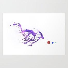 The Star Chaser: Nebula's Gait Art Print