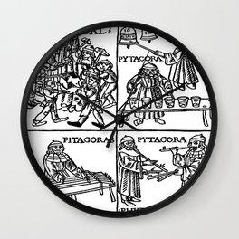 Pythagoras, Pipes in Pythagorean tuning Wall Clock