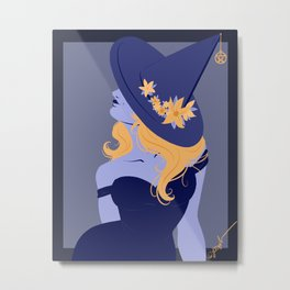Blue Witch Metal Print